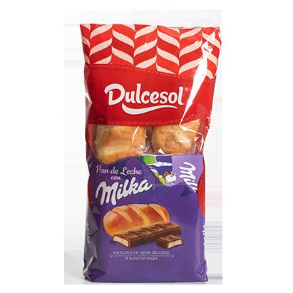 Pan de leche Dulcesol y Milka
