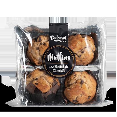 Muffins con Pepitas de Chocolate Dulcesol