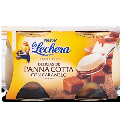 Delicias de Panna Cotta con Caramelo La Lechera