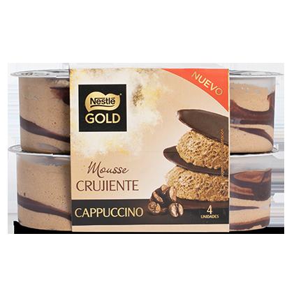 Mousse Crujiente Cappuccino Nestlé Gold
