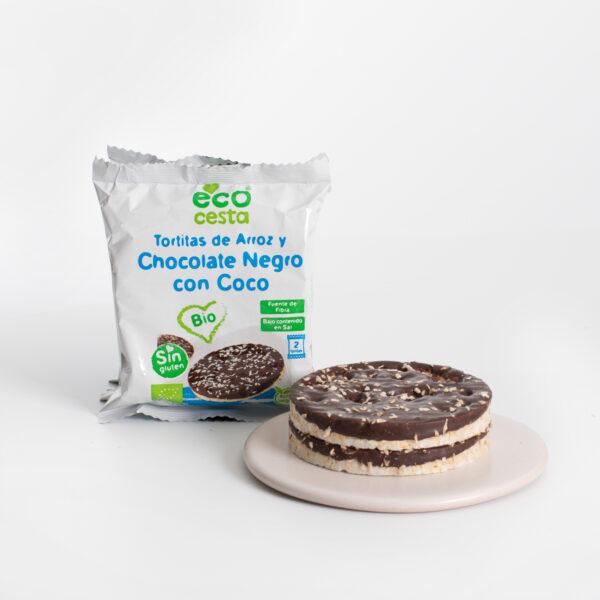Tortitas de Arroz y Chocolate Negro con Coco Bio Ecocesta