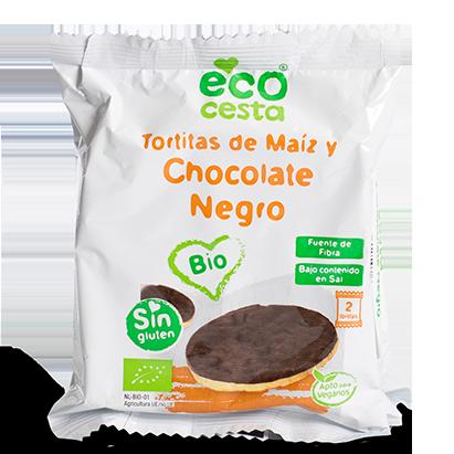 Tortitas de Maíz y Chocolate Negro Bio Ecocesta