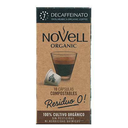Cápsulas Café Residuo 0 Decaffeinato Cafés Novell