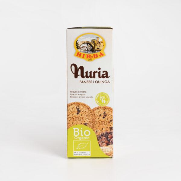 Nuria BIO Pasas y Quinoa Galletas Birba lateral