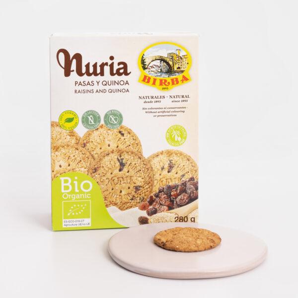 Nuria BIO Pasas y Quinoa Galletas Birba abierto