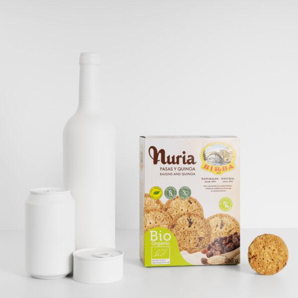 Nuria BIO Pasas y Quinoa Galletas Birba tamaño