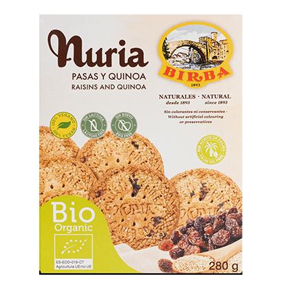 Nuria BIO Pasas y Quinoa Galletas Birba