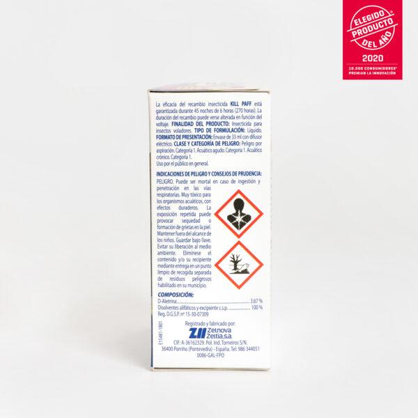 KILL PAFF Antimosquitos Kids Zelnova Zeltia lateral 2