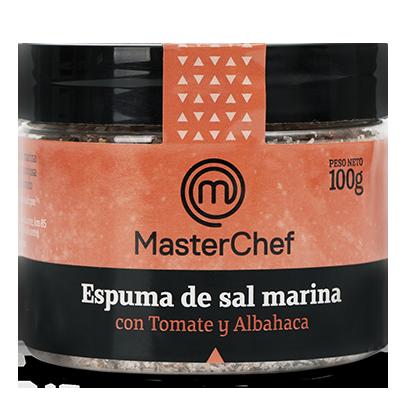 Espuma de sal marina con Tomate y Albahaca principal
