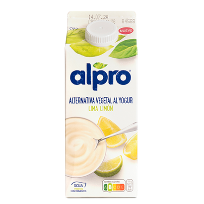 Alpro alternativa vegetal yogur limón