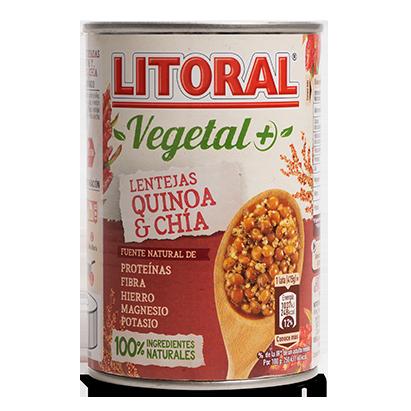 Litoral Vegetal+ Lentejas quinoa chia