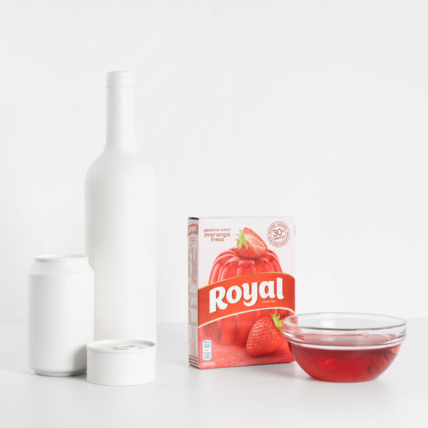 Gelatina Royal fresa tamaño
