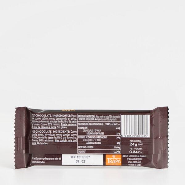 Ingredientes Trapa Mini 80% cacao