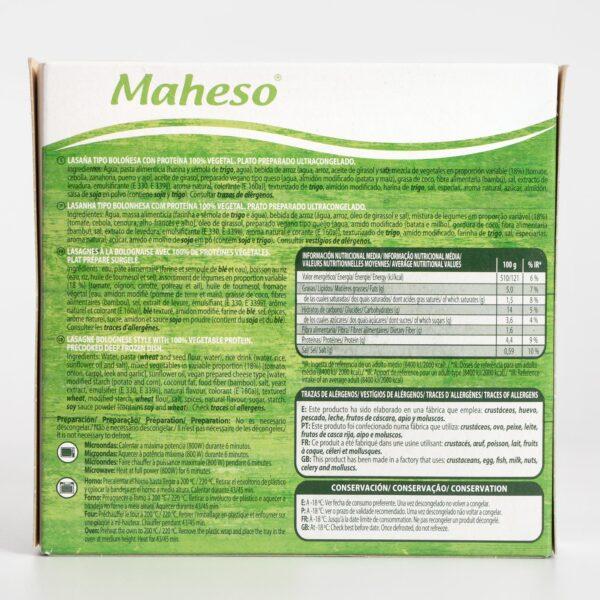 Lasaña vegana Maheso