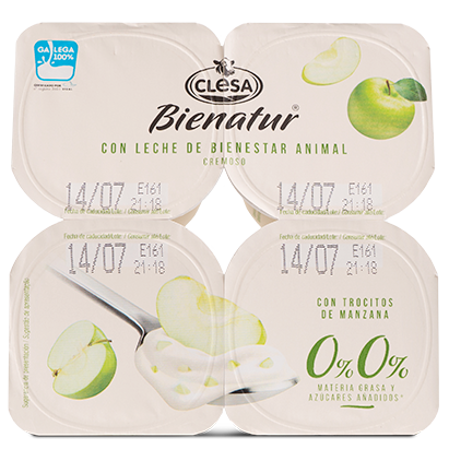 Yogures Bienatur Clesa manzana