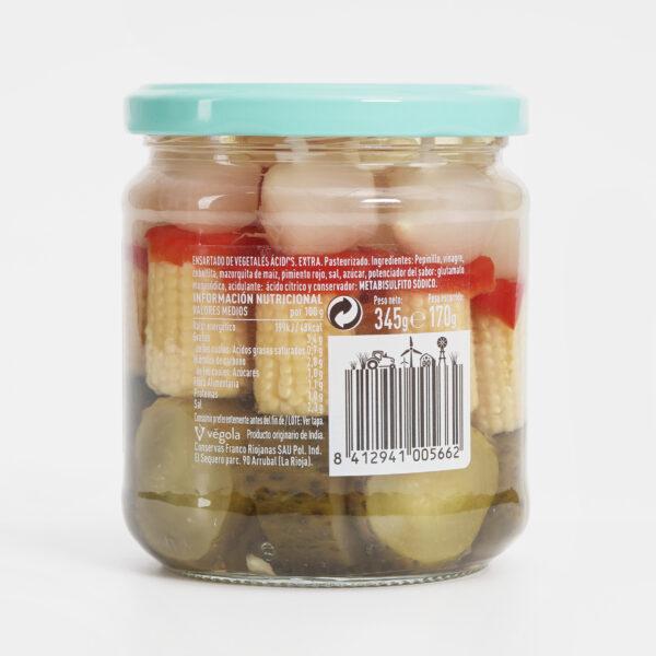 Ingredientes Banderillas dulces Végola