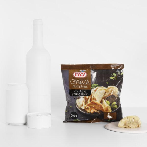 Tamaño Gyozas de pato y salsa Hoisin Vici