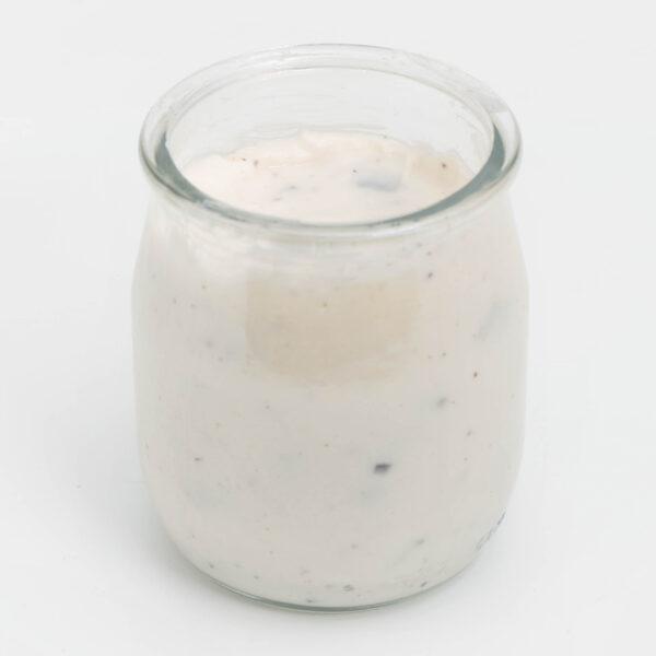 Envase vidrio La Lechera Stracciatella yogur cremoso