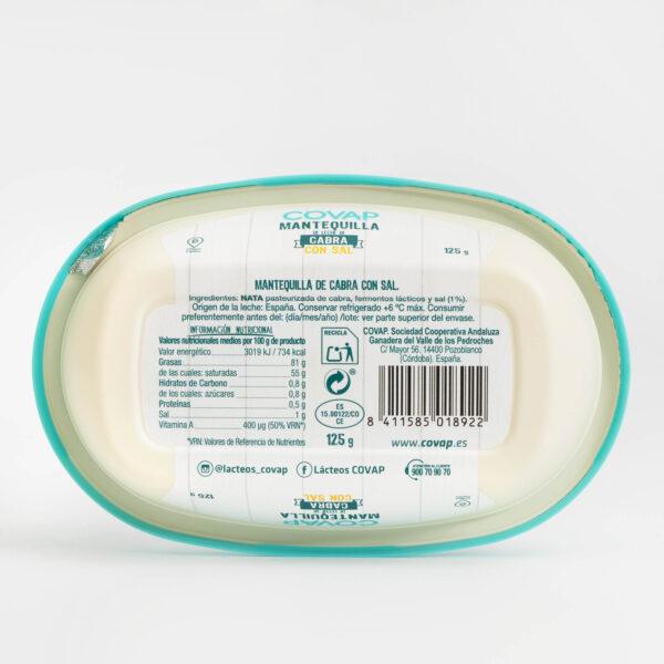 Ingredientes Mantequilla Cabra COVAP