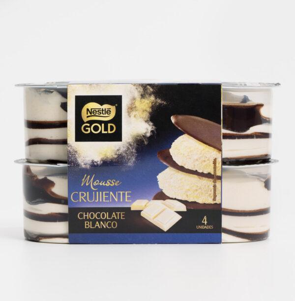 Mousse crujiente chocolate blanco Nestlé Gold