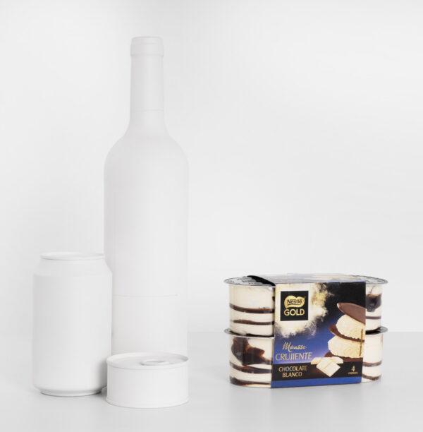 Tamaño mousse crujiente chocolate blanco Nestlé Gold