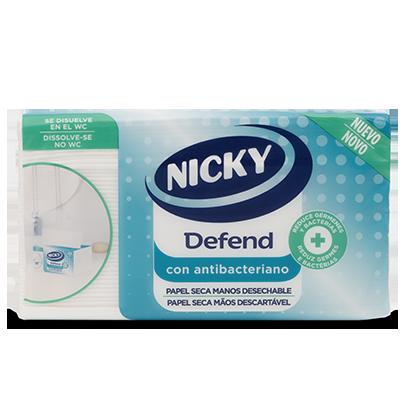 Papel secamanos antibacteriano Nicky Defend