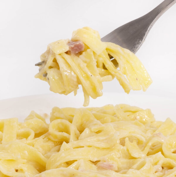 Tagliatelle Carbonara Tutti Pasta