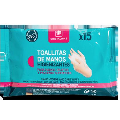 Toallitas higienizantes de manos Cristalinas